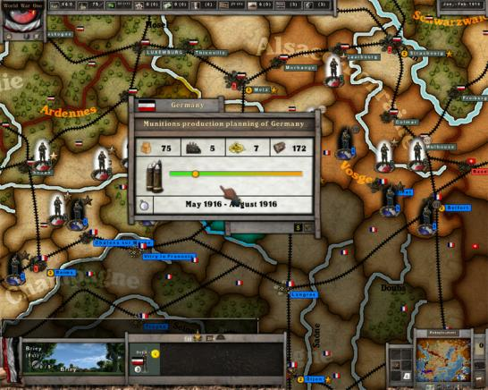 screenshot from the AGEOD WORLD WAR ONE game